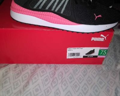 Puma shoes new with box. Never worn. Size 7.5.