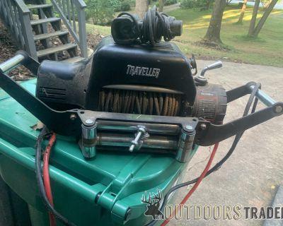 FS Travler (tractor supply) 8k winch in receiver hitch cradle