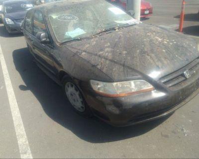 Salvage Black 2001 Honda Accord Sdn