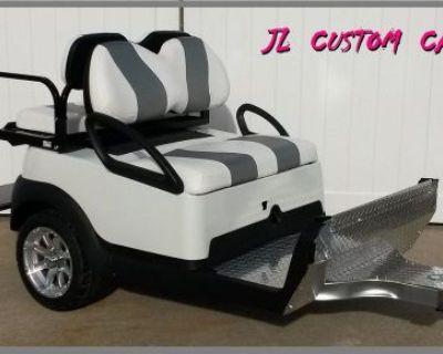 Custom Club Car Precedent Tow Behind Trailer Golf Cart Trailer 4 Seater Must See