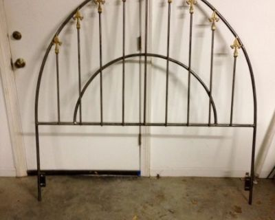 Queen headboard hand made iron with spears