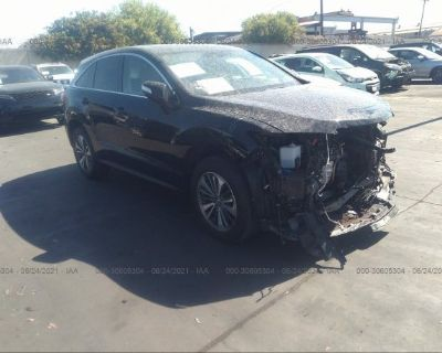 Salvage Black 2017 Acura Rdx