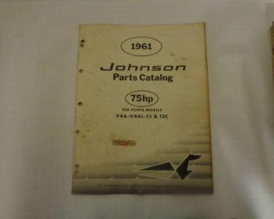 """1961 Johnson Parts Catalog 75 """"a"""" Hp Motors @@@check This Out@@@"""