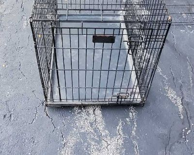 """Dog Kennel in good used condition. Measurements 36"""" x 24"""" x 32"""""""