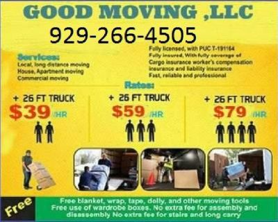 ▇MOVE WITH US- MOVING SERVICE ▇ TODAY SPECIAL AVAILABLE MOVER▇