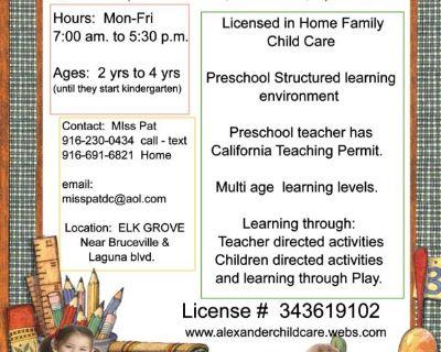 Alexander Child Care & Preschool- Licensed  childcare
