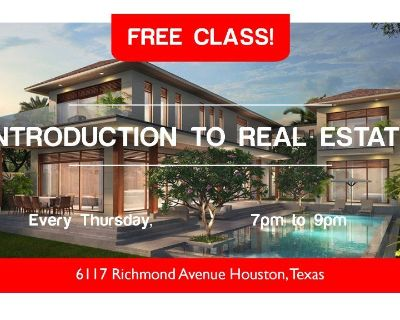 """""""Introduction to Real Estate Investing"""" Free Class by 713REIA (Every Thursday)"""