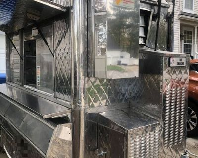 All Stainless Steel 2000 5' x 8' Food Concession Trailer with Pro Fire System