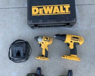 Dewalt Drill, Impact, Charger, Case. Asking $30 obo