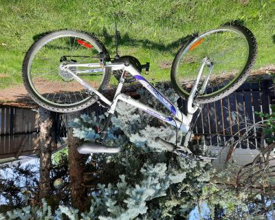 Supercycle 1800 Youth Rigid Mountain Bike, White, 24-in