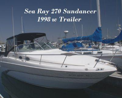 1998 Sea Ray 270 Sundancer w Trailer