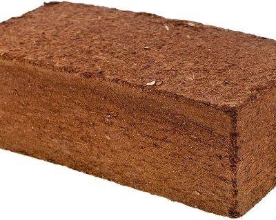 Coconut Coir Block --- 10.9 lbs. to 11.2 Lbs. --- $10.00