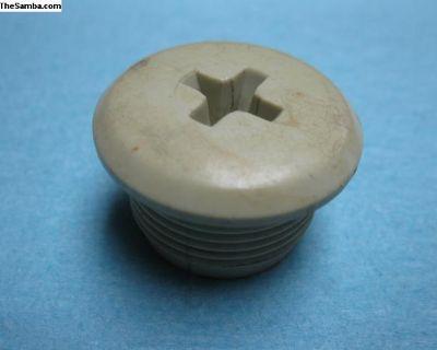 311857785 white plastic seat belt hole plug cap