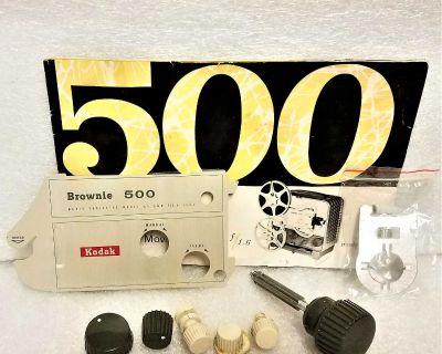 Vintage Kodak Brownie 500 A-5 Movie Projector Asst. Parts