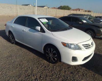 Salvage White 2013 Toyota Corolla