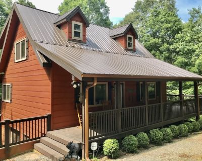 Awesome private Cabin Retreat. Fireplace Hot Tub Rocking Chair Covered Porches. - Ellijay