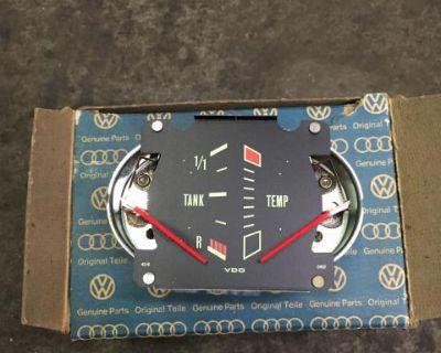 NOS Genuine VW Dasher Tank/Temp Gauge