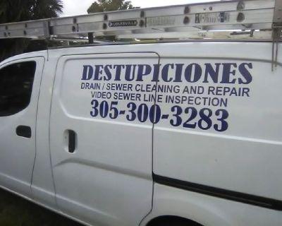 MIAMI DESTUPICIONES, DRAIN AND SEWER CLEANING 786 334 2631