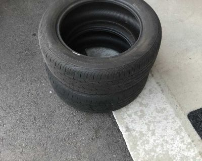 Pair of Continental 205/55 R16 tires