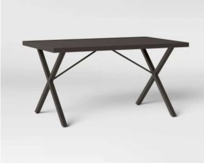 """NEW - OPEN-BOX - 51"""" BROWN THRESHOLD MONROE RECTANGLE OUTDOOR PATIO DINING TABLE"""