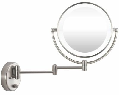 9 LED Lighted Makeup Vanity Magnification Mirror, Swing Arm Wall Mounted with Swivel Double Sided!