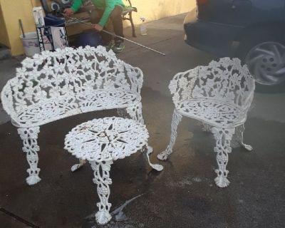 Wrough iron patio set