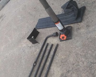 Heavy Duty Jack With 3 Piece Extension, Wedge, Bag & Tire Iron
