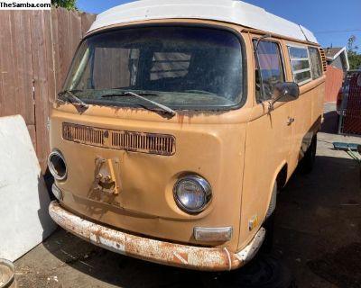 1972 Westfalia pop top camper project new price