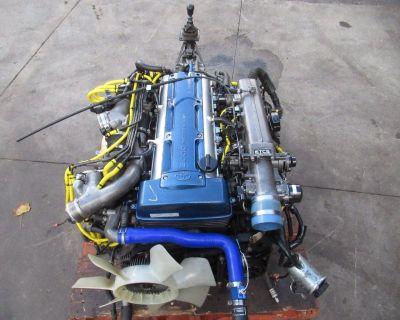 JDM Toyota Supra 2JZ GTE Twin Turbo Engine 6 Speed V161 GETRAG Transmission 2JZ