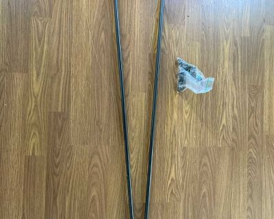 set of two curtain rods
