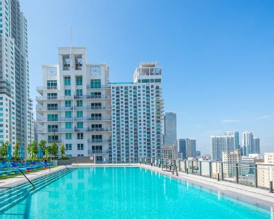 Private Bd and Bath Apt w/ gym access & great view