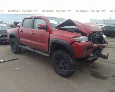 Salvage Red 2016 Toyota Tacoma