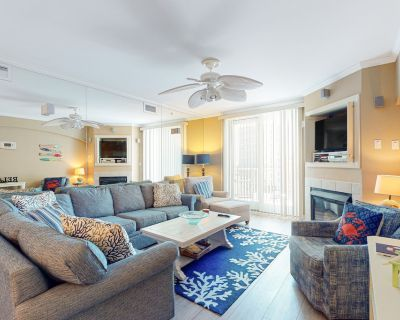 Oceanfront Condo w/Free WiFi, Shared Pool & Hot Tub, Ocean View, AC, Private W/D - Midtown Ocean City