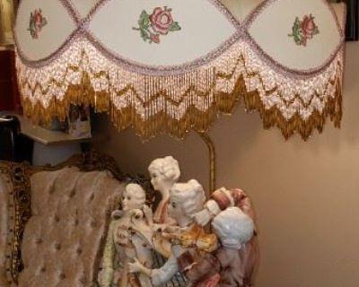 ARLINGTON HTS ESTATE SALE: Capodimonte Lamp, Toys, Jewelry, China, Vintage Electronics, Tools