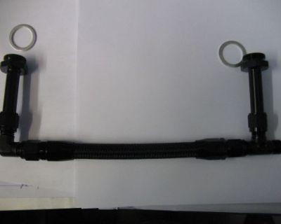 06an Holley 4150 Dual Inlet Carb Fuel Line Black Pro Lite Nylon Hose