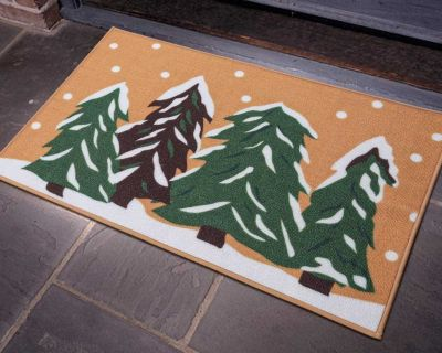 New LOCHAS Tree Pattern Decorative Indoor Non-Slip Rubber Backing Floor Mat Rug. Constructed Of High-Quality Material. Perfect For...