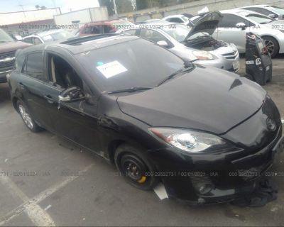 Salvage Black 2013 Mazda Mazda3