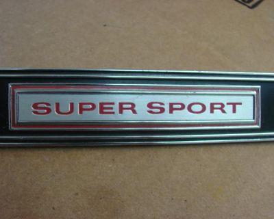 1968 Impala Ss Dash Emblem 396 427 Chevrolet Super Sport