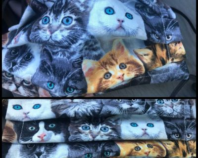 Cat lovers mask. Adult size. Pic shows open and closed
