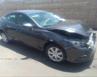 Salvage Gray 2015 Mazda Mazda3