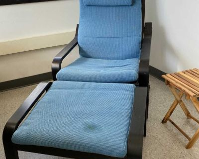 Armchair with foot stool