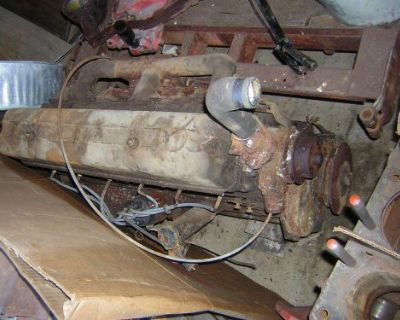 1949 Chevy C.o.e. 235 Truck Engine Complete, Turns Over, Up Draft Manifold-carb.