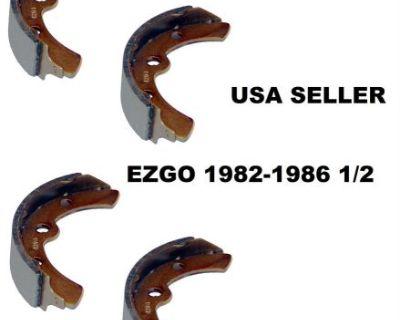 4 Ezgo Golf Cart Brake Shoes 1982-1986 1/2 Marathon Gas Electric 23355-g1