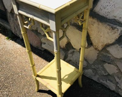 Yellow plant/side table vintage