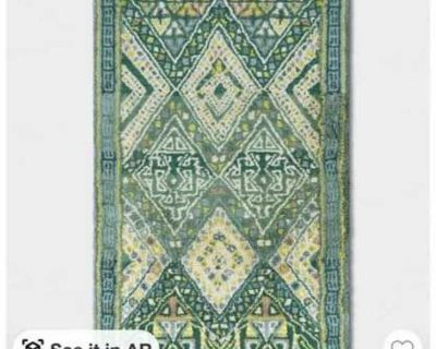 7x10 coreopsis diamond tufted area rug