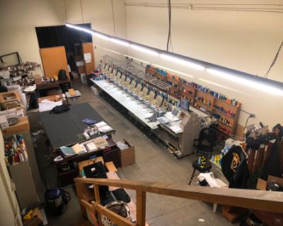 North Hollywood Embroidery workshop office warehouse shop, North hollywood, CA