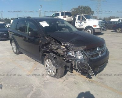 Salvage Black 2013 Dodge Journey