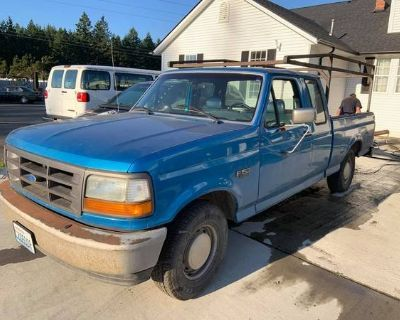 1994 FORD F150 blue truck with ladder rack v8, automatic transmission
