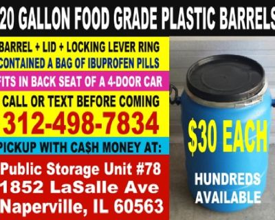 Heavy Duty Plastic Mixing and Storage Barrels