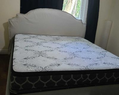King size bed with a huge underbed storage and matress